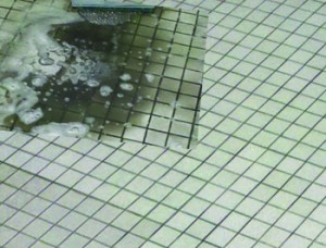Tile and grout cleaning in bathrooms